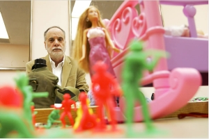 Dr. Zucker, seen here trying to melt his arch nemesis, Barbie, with his mind.