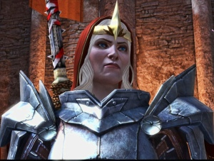 """""""Do not brand me a tyrant!"""" What I also find interesting about some of these characters is that they are portrayed as being older-- lines of middle age are visible on Meredith's face, for example, and Kreia is older still. It's a positive image for older women, to say the very least."""