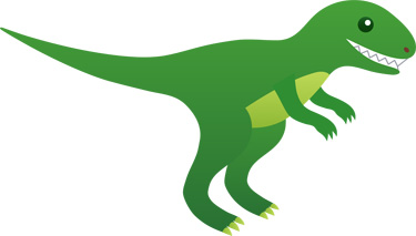 An adorbs green dinosaur.  Courtesy of sweetclipart.com